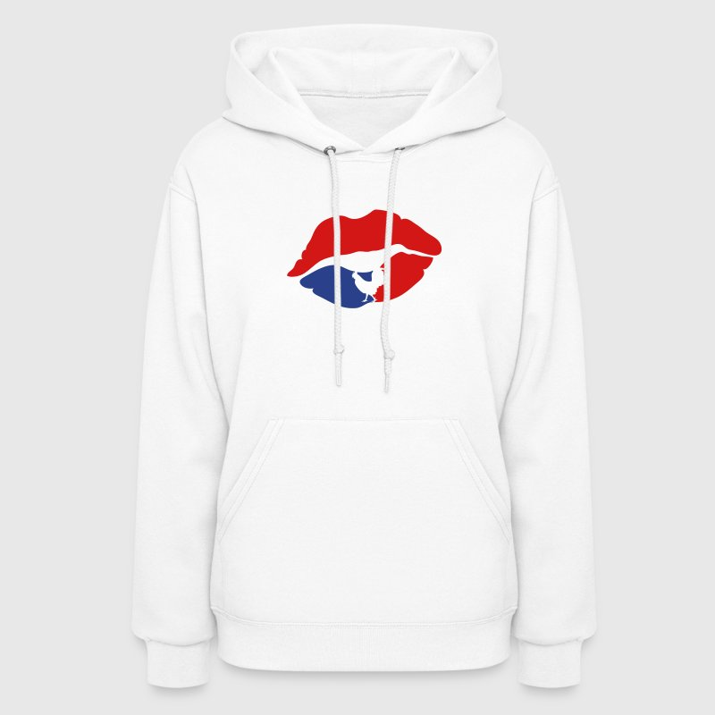 mouth lip kiss french cock Hoodies - Women's Hoodie