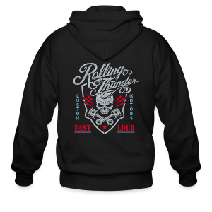 Rolling Thunder Motors - Men's Zip Hoodie