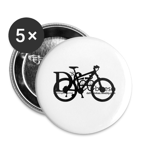 womens-D'sfreebikes Shirt - Buttons large 2.2'' (5-pack)