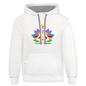 The Colors of Chakra - Contrast Hoodie