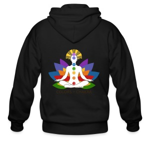 The Colors of Chakra - Men's Zip Hoodie