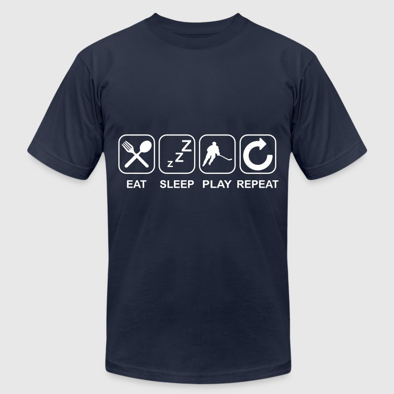 Eat Sleep Play Repeat T-Shirts - Men's T-Shirt by American Apparel