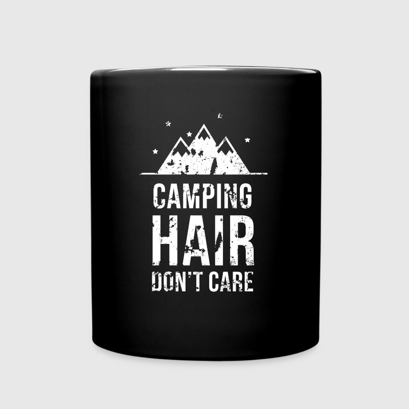 Camping hair don't care Camping T Shirt Mugs & Drinkware - Full Color Mug