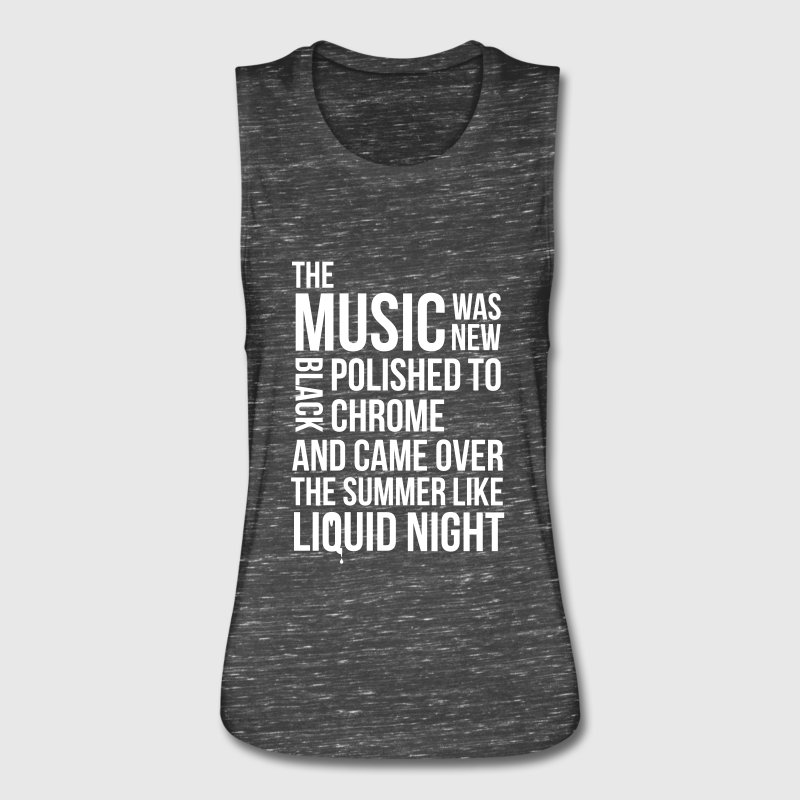 music black polished chrome techno acid DJ club  Tanks - Women's Flowy Muscle Tank by Bella