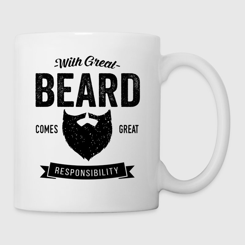 With Great Beard Mugs & Drinkware - Coffee/Tea Mug
