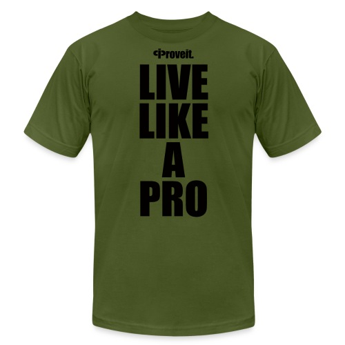 LIVE LIKE A PRO - Men's  Jersey T-Shirt