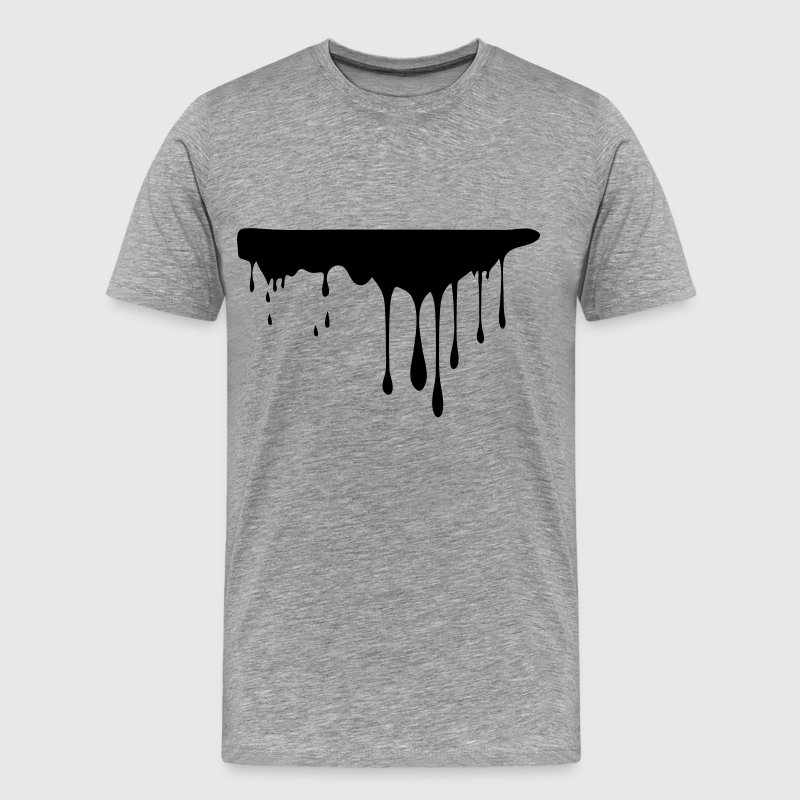 black paint drops Men's Premium T-Shirt - Men's Premium T-Shirt