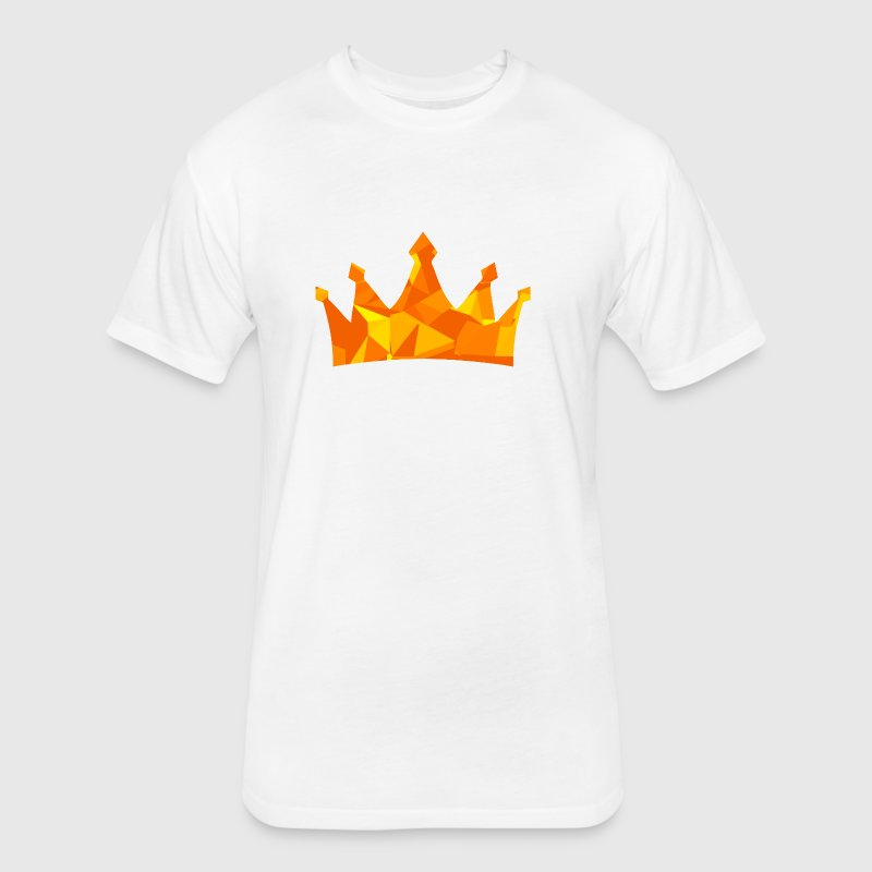 Crown (Low Poly) T-Shirts - Fitted Cotton/Poly T-Shirt by Next Level