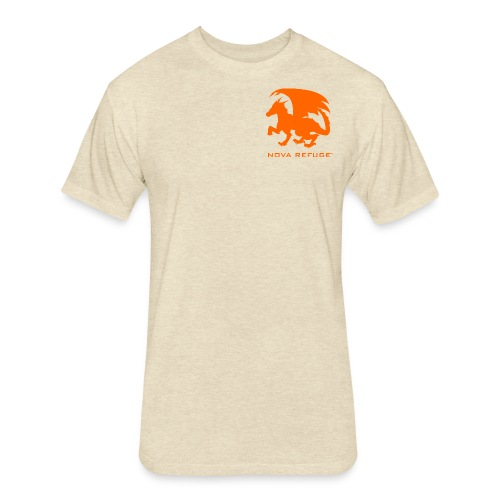 Nova Refuge Zygbar Badge Men's T-Shirt - Fitted Cotton/Poly T-Shirt by Next Level