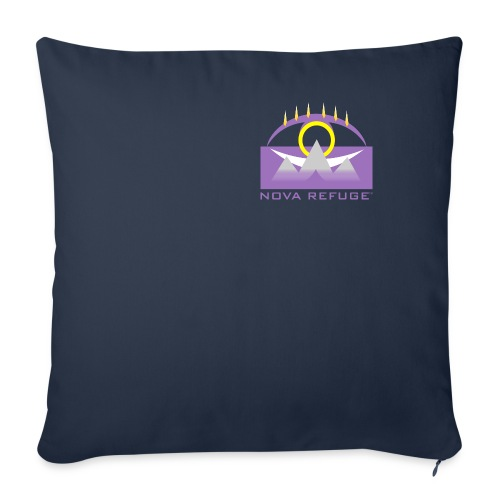 "Nova Refuge Yavakaro Badge Men's T-Shirt - Throw Pillow Cover 18"" x 18"""