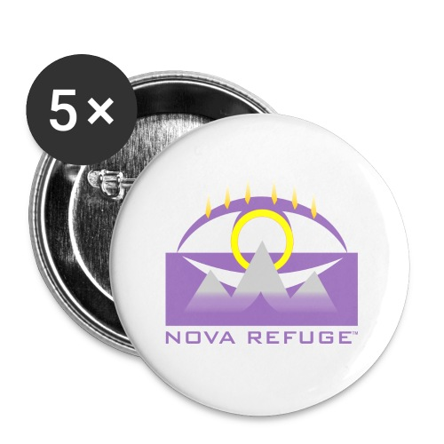 Nova Refuge Yavakaro Badge Men's T-Shirt - Large Buttons