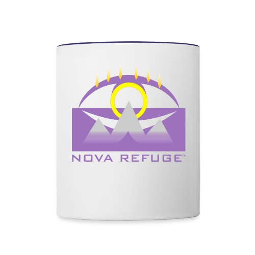 Nova Refuge Yavakaro Badge Men's T-Shirt - Contrast Coffee Mug