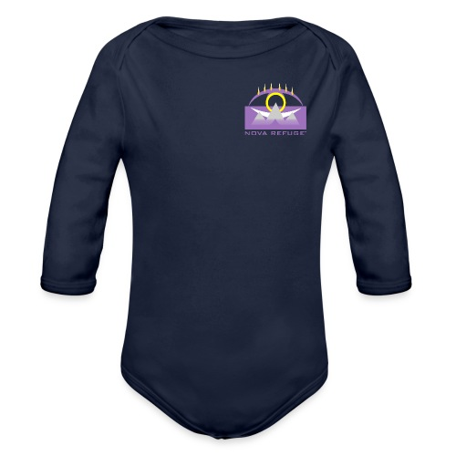 Nova Refuge Yavakaro Badge Men's T-Shirt - Organic Long Sleeve Baby Bodysuit