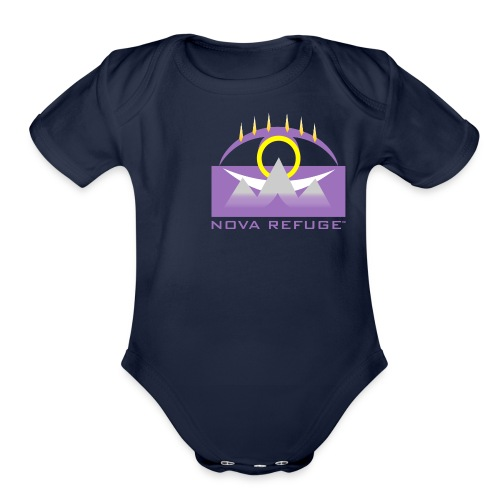 Nova Refuge Yavakaro Badge Men's T-Shirt - Organic Short Sleeve Baby Bodysuit
