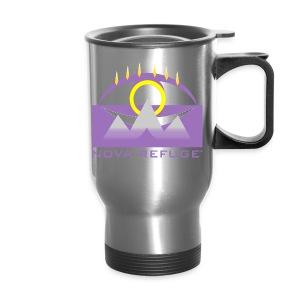 Nova Refuge Yavakaro Badge Men's T-Shirt - Travel Mug