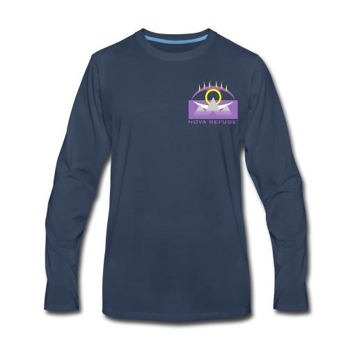Nova Refuge Yavakaro Badge Men's T-Shirt - Men's Premium Long Sleeve T-Shirt