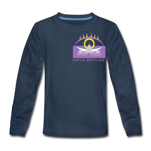 Nova Refuge Yavakaro Badge Men's T-Shirt - Kids' Premium Long Sleeve T-Shirt