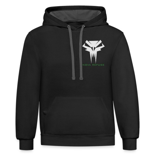 Nova Refuge Grimm's Army Badge Men's T-Shirt - Contrast Hoodie