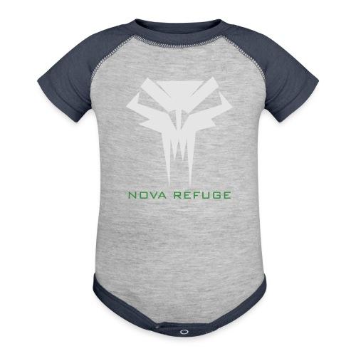 Nova Refuge Grimm's Army Badge Men's T-Shirt - Baby Contrast One Piece