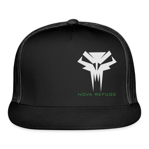 Nova Refuge Grimm's Army Badge Men's T-Shirt - Trucker Cap