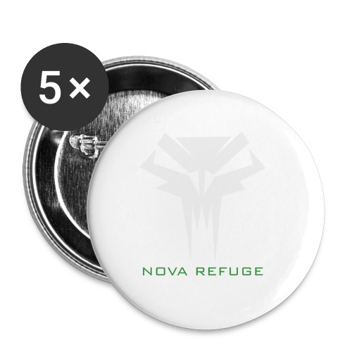Nova Refuge Grimm's Army Badge Men's T-Shirt - Large Buttons
