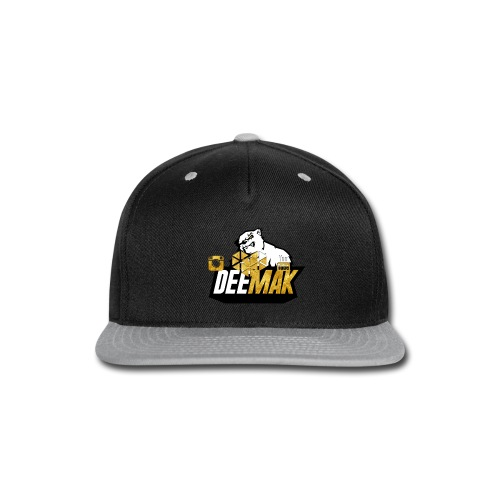 Mens Premium Gold DeeMak V-Neck   - Snap-back Baseball Cap
