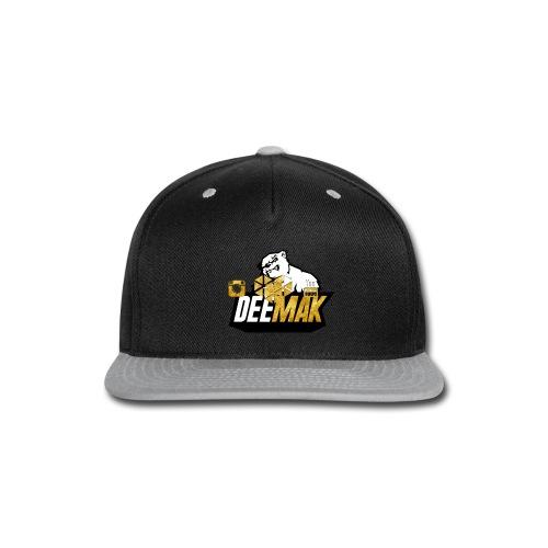 Mens Premium Gold DeeMak V-Neck   - Snap-back Baseball Cap