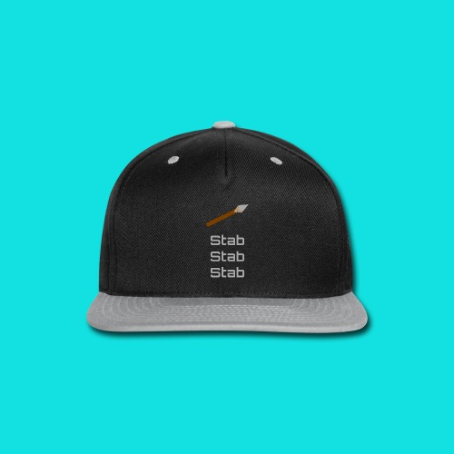 Stab Stab Stab Men's Premium T-Shirt - Snap-back Baseball Cap