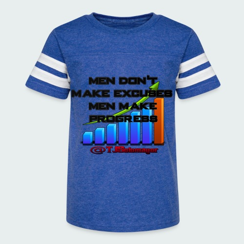 Kids- Men Don't Make Excuses.. - Kid's Vintage Sport T-Shirt