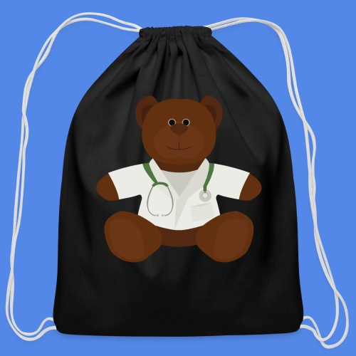 Dr Teddy bear  - Cotton Drawstring Bag