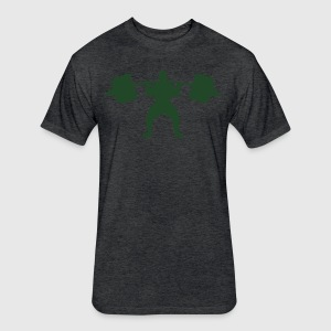 WeightLifting men's Fitted T-shirt - Fitted Cotton/Poly T-Shirt by Next Level