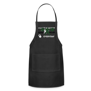 Front/Back Build Muscles Everyday v-neck shirt - Adjustable Apron