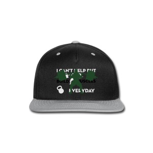 Front/Back Build Muscles Everyday v-neck shirt - Snap-back Baseball Cap