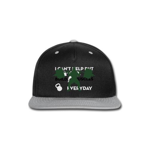 Front/Back Build Muscles Everyday v-neck shirt - Snap-back Baseball Cap