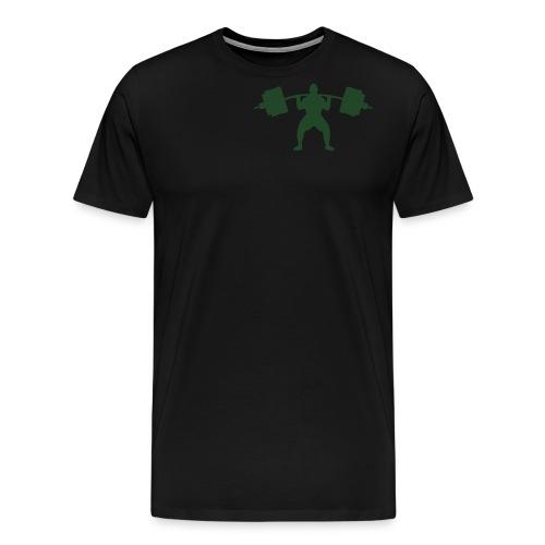 Front/Back Build Muscles Everyday v-neck shirt - Men's Premium T-Shirt