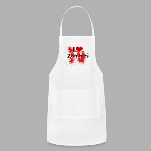I heart Zombies - Adjustable Apron
