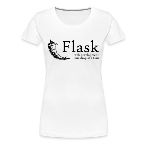 Flask Web Framework - Women's Premium T-Shirt
