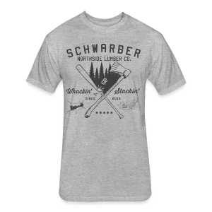 Schwarber Lumber Co - Fitted Cotton/Poly T-Shirt by Next Level