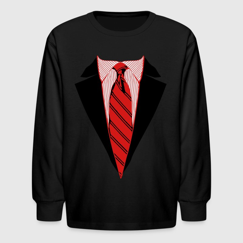 Suit and Tie Tee, Coat and Tie T-shirt Kids' Shirts - Kids' Long Sleeve T-Shirt