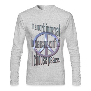 I Choose Peace - Men's Long Sleeve T-Shirt by Next Level