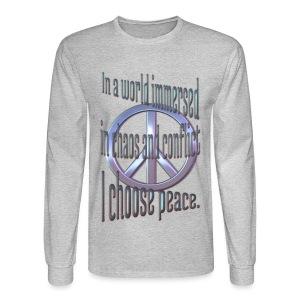 I Choose Peace - Men's Long Sleeve T-Shirt