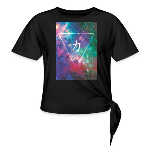 Force - Cosmic Blue - Women's Knotted T-Shirt