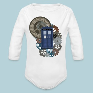 Traveling through Time 2 - Long Sleeve Baby Bodysuit