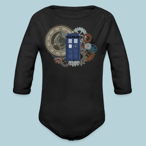Traveling through Time - Long Sleeve Baby Bodysuit