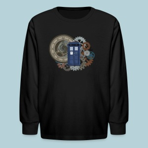 Traveling through Time - Kids' Long Sleeve T-Shirt