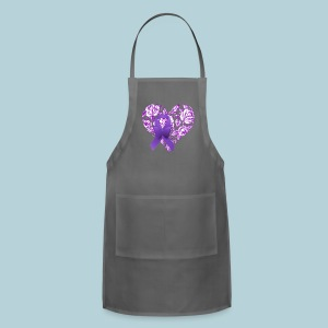 Purple Awareness Ribbon - Adjustable Apron