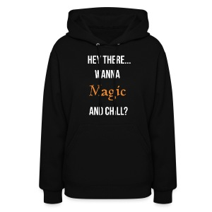 Magic and chill woman's (white) - Women's Hoodie