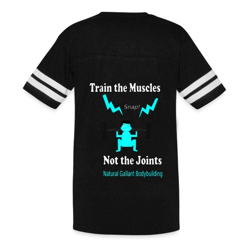 Train the Muscles, Not the Joints Zip Up Hoodie.  - Vintage Sport T-Shirt