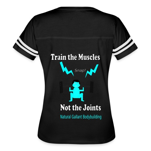 Train the Muscles, Not the Joints Zip Up Hoodie.  - Women's Vintage Sport T-Shirt