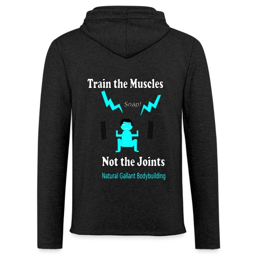 Train the Muscles, Not the Joints Zip Up Hoodie.  - Unisex Lightweight Terry Hoodie